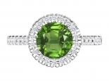 טבעת אבן חן גדולה בעיצוב הולו