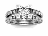 טבעת יהלומים לאישה- 0.30 נקודות מרכזית