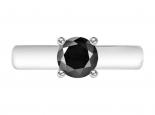 טבעת יהלום שחור סוליטר