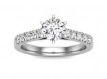 טבעת אירוסין מיוחדת- 0.50 קראט מרכזית