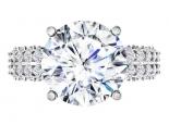 טבעת אירוסין יוקרתית חצי קראט מרכזית- הבורסה ליהלומים