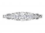טבעת יהלומים בעיצוב וינטג'- חצי קראט מרכזית
