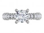 טבעת אירוסין מרשימה 3/4 קראט מרכזית - הבורסה ליהלומים