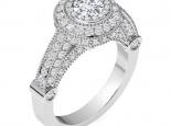 טבעת אירוסין הולו מיוחדת- 0.30 נקודות מרכזית
