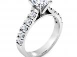 טבעת אירוסין יוקרתית- הבורסה ליהלומים- 1 קראט מרכזית