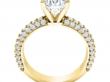 טבעת אירוסין מיוחדת סוליטר- חצי קראט מרכזית