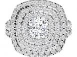 טבעת יהלומים בעיצוב הולו- 0.30 נקודות מרכזית
