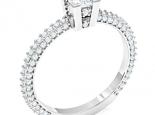 טבעת אירוסין סוליטר מיוחדת- 4\3 קראט מרכזית