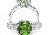 טבעת יהלום יוקרתית משובצת יהלומים 1 קארט אבן חן יקרה