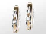 עגילי יהלומים קלסיים
