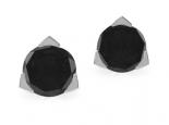 עגילי יהלומים שחורים צמודים לאוזן חצי קארט כול עגיל