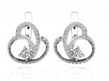 עגילי יהלומים מעוצבים- 0.50 קראט בכל אוזן