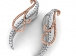 עגיל יהלומים מטפס על האוזן