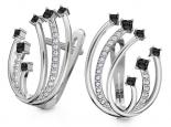 עגילי יהלומים שחורים בעיצוב מיוחד