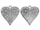 עגילים לב יהלומים
