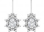 עגילי יהלומים- דגם דיאנה עיצוב וינטג'