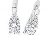 עגילי יהלומים לאישה- עיצוב אישי 1 קראט מרכזית