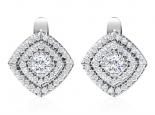 עגילי יהלומים בעיצוב הולו לאישה