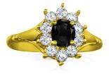 טבעת דיאנה בשיבוץ יהלום שחור