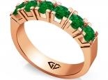 טבעת זהב ויהלומים 6 אבני חן