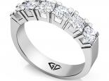 טבעת זהב ויהלומים 6 יהלומים גדולים