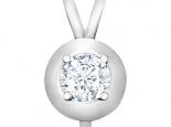 תליון יהלומים עם יהלום מרכזי גדול בגדלים שונים