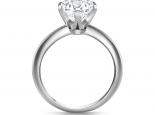 טבעת אירוסין סוליטר 6 שינים