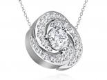 תליון יהלומים מסובבים סט לטבעת  אפשרות לעגילים תואמים