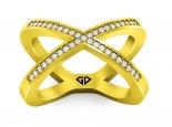 טבעת קשתות יהלומים