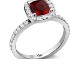 טבעת יהלומים אבן חן רובי