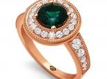 טבעת יהלומים ואבני חן בעיצוב יוקרתי