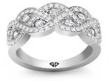 טבעת יהלומים בעיצוב קשתות