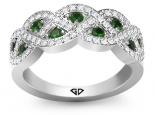 טבעת יהלומיםבעיצוב קשתות