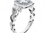 טבעת וינטג' יוקרתית- יהלום מרכזי 30 נקודות