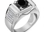 טבעת יהלומים יוקרתית לגבר יהלום שחור