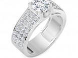טבעת יהלומים לגבר- יהלום מרכזי 30 נקודות