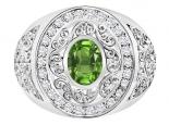 טבעת יהלומים גדולה ומרשימה- אבן חן מרכזית