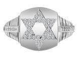טבעת יהלומים מגן דוד לגבר