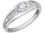 טבעת יהלומים בעיצוב וינטג'