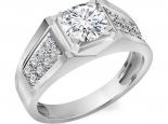 טבעות לגברים טבעת יהלומים לגבר1קארט מרכזית