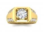 טבעת יהלום לגבר- 1 קראט מרכזית