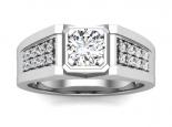 טבעת יהלומים לגבר- תכשיטים לגבר- 0.30 נקודות מרכזית