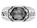 טבעת לגבר עם יהלום שחור