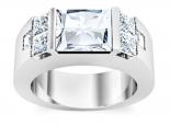 טבעת יהלומים לגבר- חצי קראט מרכזית