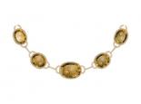 שרשרת זהב משובצת  אבני חן