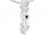 תליון יהלומים בעיצוב אישי- יהלומים שחורים