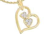 תליון לבבות מעוצב  תכשיטים לאישה