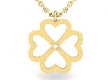 שרשרת זהב פרח עם יהלום