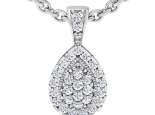 תליון יהלומים לאישה - תליון טיפה