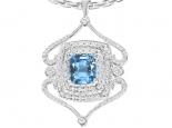 תליון יהלומים בעיצוב אישי- אבן חן בהירה מרכזית